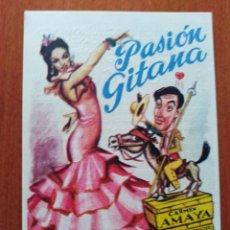 Cine: PASION GITANA (CON PUBLICIDAD). Lote 266922679
