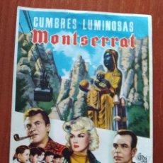 Cine: CUMBRES LUMINOSAS DE MONTSERRAT. Lote 266925894
