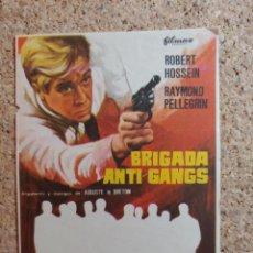 Cine: FOLLETO DE MANO DE LA PELICULA BRIGADA ANTI - GANGS. Lote 266945684