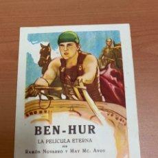 Flyers Publicitaires de films Anciens: BEN-HUR FOLLETO DE CINE. Lote 267036709