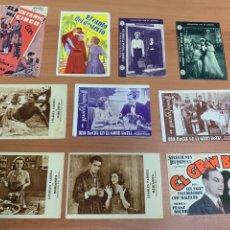 Folhetos de mão de filmes antigos de cinema: LOTE DE 10 FOLLETOS DE CINE ANTIGUO. Lote 267038819