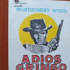Folhetos de mão de filmes antigos de cinema: ADIOS GRINGO. Lote 267231989