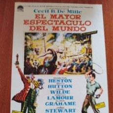 Cine: EL MAYOR ESPECTACULO DEL MUNDO. Lote 267336404