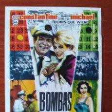 Folhetos de mão de filmes antigos de cinema: BOMBAS SOBRE MONTECARLO (CON PUBLICIDAD). Lote 267336879