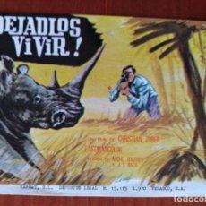 Cine: DEJADLOS VIVIR. Lote 267338494