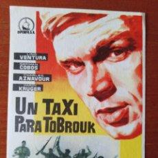 Cine: UN TAXI PARA TOBROUK. Lote 267340204