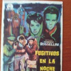 Cine: FUGITIVOS EN LA NOCHE. Lote 267341944