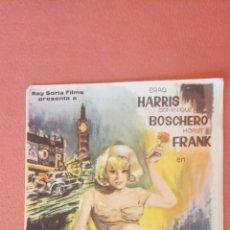 Folhetos de mão de filmes antigos de cinema: EL ENIGMA DEL CLAVEL CHINO. BRAD HARRIS. DOMINIQUE BOSCHERO.. Lote 267575184