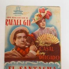 Cine: EL FANTASMA Y Dª JUANITA - DOBLE- PUBLICIDAD CINEMA GOYA. Lote 267638559
