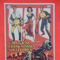Folhetos de mão de filmes antigos de cinema: ORGULLO Y PASION, IMPECABLE SENCILLO, CARY GRANT, C/PUBLI CINE DOMENECH RUBÍ. Lote 267645599