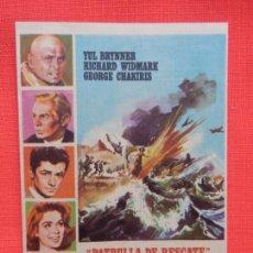 Folhetos de mão de filmes antigos de cinema: PATRULLA DE RESCATE, IMPECABLE SENCILLO, YUL BRYNNER, C/PUBLI T. CIRCO Y T. VERANO 1965. Lote 267647119