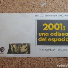 Flyers Publicitaires de films Anciens: FOLLETO DE MANO GIGANTE DE LA PELÍCULA 2001 UNA ODISEA EN EL ESPACIO. Lote 267853189