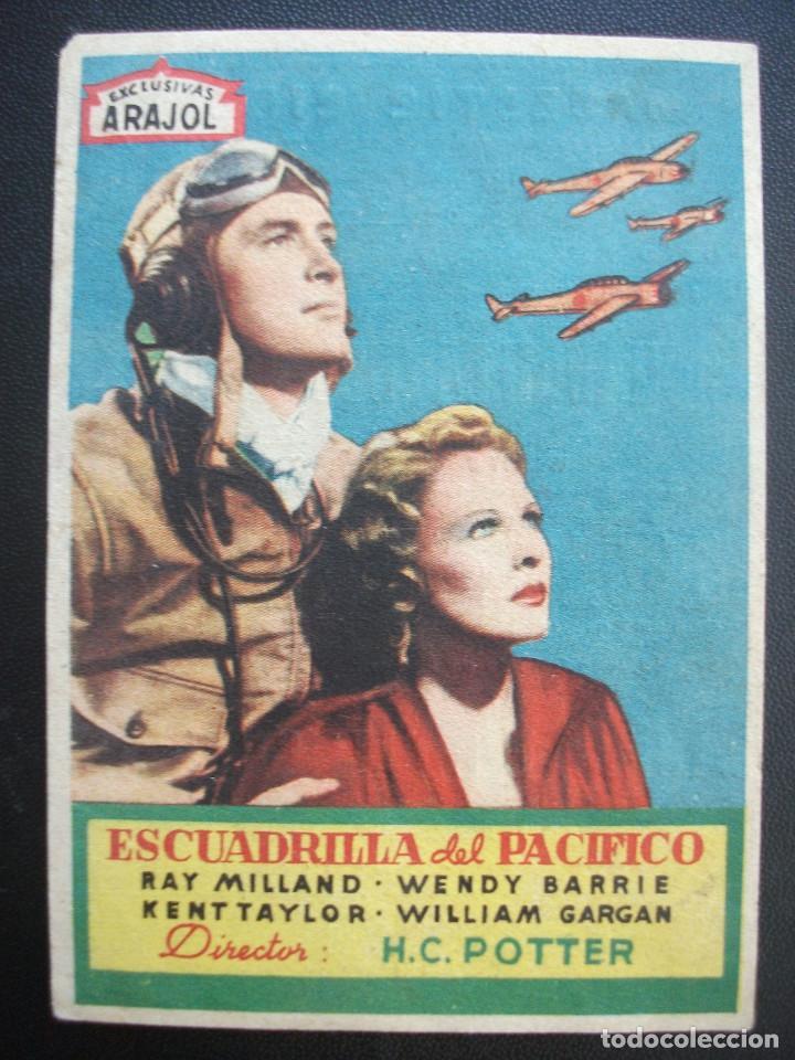 ESCUADRILLA DEL PACÍFICO, RAY MILLAND, ARAJOL, MAJESTIC CINEMA (Cine - Folletos de Mano - Bélicas)
