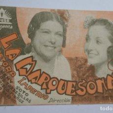Foglietti di film di film antichi di cinema: LA MARQUESONA . PASTORA INPERIO. Lote 268044859