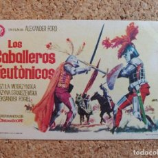 Folhetos de mão de filmes antigos de cinema: FOLLETO DE MANO DE LA PELÍCULA LOS CABALLEROS TEUTONICOS. Lote 268268099