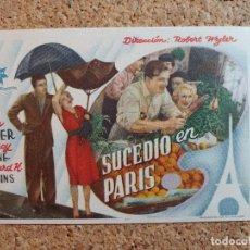 Folhetos de mão de filmes antigos de cinema: FOLLETO DE MANO DE LA PELÍCULA SUCEDIÓ EN MADRID. Lote 268270499