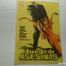 Folhetos de mão de filmes antigos de cinema: PROGRAMA JUEGO DE ASESINOS.-. Lote 268271884