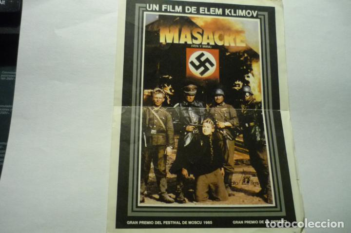 PROGRAMA MASACRE.- PUBLICIDAD (Cine - Folletos de Mano - Bélicas)