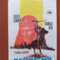 Folhetos de mão de filmes antigos de cinema: GERONIMO (CON PUBLICIDAD). Lote 268296939