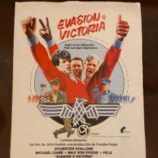 Cine: PELE EN EVASION O VICTORIA BUEN ESTADO PROSPECTO DE CINE. Lote 268454484
