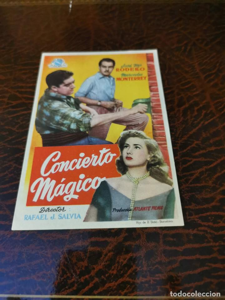 PROGRAMA DE MANO ORIG - CONCIERTO MAGICO - SIN CINE IMPRESO AL DORSO (Cine - Folletos de Mano - Clásico Español)