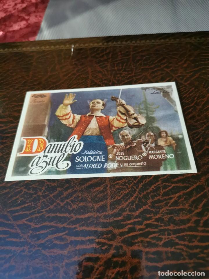 PROGRAMA DE MANO ORIG - DANUBIO AZUL - SIN CINE IMPRESO AL DORSO (Cine - Folletos de Mano - Drama)
