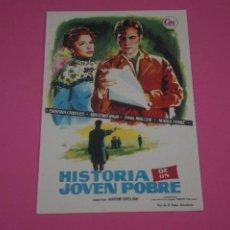 Cine: FOLLETO DE MANO PROGRAMA DE CINE HISTORIA DE UN JOVEN POBRE SIN PUBLICIDAD LOTE 84 MIRAR FOTOS. Lote 268595964
