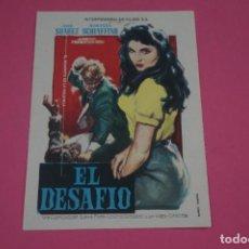 Cine: FOLLETO DE MANO PROGRAMA DE CINE EL DESAFIO SIN PUBLICIDAD LOTE 84 MIRAR FOTOS. Lote 268596049