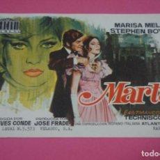 Cine: FOLLETO DE MANO PROGRAMA DE CINE MARTA SIN PUBLICIDAD LOTE 85 MIRAR FOTOS. Lote 268597139