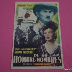 Cine: FOLLETO DE MANO PROGRAMA DE CINE DE HOMBRE A HOMBRES SIN PUBLICIDAD LOTE 85 MIRAR FOTOS. Lote 268597399