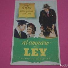 Cine: FOLLETO DE MANO PROGRAMA DE CINE AL AMPARO DE LA LEY SIN PUBLICIDAD LOTE 85 MIRAR FOTOS. Lote 268597569