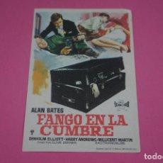 Cine: FOLLETO DE MANO PROGRAMA DE CINE FANGO EN LA CUMBRE SIN PUBLICIDAD LOTE 85 MIRAR FOTOS. Lote 268597754