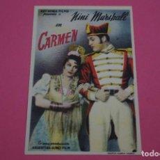 Cine: FOLLETO DE MANO PROGRAMA DE CINE CARMEN SIN PUBLICIDAD LOTE 85 MIRAR FOTOS. Lote 268597859