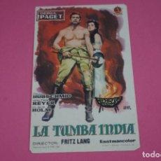 Cine: FOLLETO DE MANO PROGRAMA DE CINE LA TUMBA INDIA SIN PUBLICIDAD LOTE 85 MIRAR FOTOS. Lote 268598014