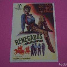 Cine: FOLLETO DE MANO PROGRAMA DE CINE RENEGADOS SIN PUBLICIDAD LOTE 85 MIRAR FOTOS. Lote 268598219