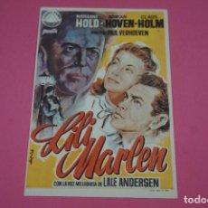 Cine: FOLLETO DE MANO PROGRAMA DE CINE LILI MARLEN SIN PUBLICIDAD LOTE 85 MIRAR FOTOS. Lote 268598369