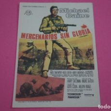 Cine: FOLLETO DE MANO PROGRAMA DE CINE MERCENARIOS SIN GLORIA SIN PUBLICIDAD LOTE 85 MIRAR FOTOS. Lote 268599394