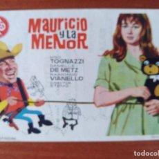 Flyers Publicitaires de films Anciens: MAURICIO Y LA MENOR (CON PUBLICIDAD). Lote 268727074