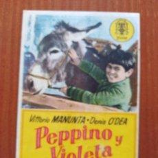 Flyers Publicitaires de films Anciens: PPEPINO Y VIOLETA (CON PUBLICIDAD). Lote 268728399