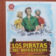 Flyers Publicitaires de films Anciens: LOS PIRATAS DEL MISSISSIPI (CON PUBLICIDAD). Lote 268730579
