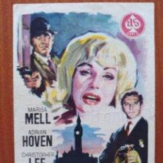 Flyers Publicitaires de films Anciens: GANGSTERS EN LONDRES (CON PUBLICIDAD). Lote 268732694