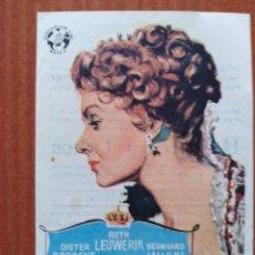 Flyers Publicitaires de films Anciens: LA REINA LUISA(CON PUBLICIDAD). Lote 268734044