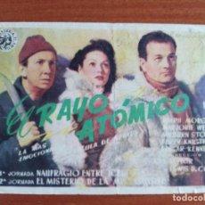 Flyers Publicitaires de films Anciens: EL RAYO ATOMICO ( CON PUBLICIDAD). Lote 268735154