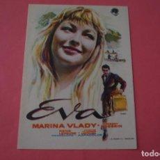 Cine: FOLLETO DE MANO PROGRAMA DE CINE EVA SIN PUBLICIDAD LOTE 86 MIRAR FOTOS. Lote 268735784