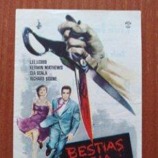 Flyers Publicitaires de films Anciens: BESTIAS DE LA CIUDAD ( CON PUBLICIDAD). Lote 268735839