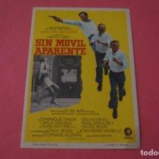 Cine: FOLLETO DE MANO PROGRAMA DE CINE SIN MOVIL APARENTE SIN PUBLICIDAD LOTE 86 MIRAR FOTOS. Lote 268735994
