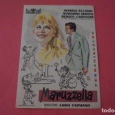 Cine: FOLLETO DE MANO PROGRAMA DE CINE MARUZZELLA SIN PUBLICIDAD LOTE 86 MIRAR FOTOS. Lote 268736244