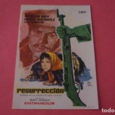 Cine: FOLLETO DE MANO PROGRAMA DE CINE RESURRECCION SIN PUBLICIDAD LOTE 86 MIRAR FOTOS. Lote 268737319