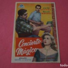 Cine: FOLLETO DE MANO PROGRAMA DE CINE CONCIERTO MAGICO SIN PUBLICIDAD LOTE 86 MIRAR FOTOS. Lote 268738449
