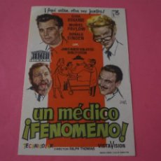 Cine: FOLLETO DE MANO PROGRAMA DE CINE UN MEDICO FENOMENO SIN PUBLICIDAD LOTE 86 MIRAR FOTOS. Lote 268738789